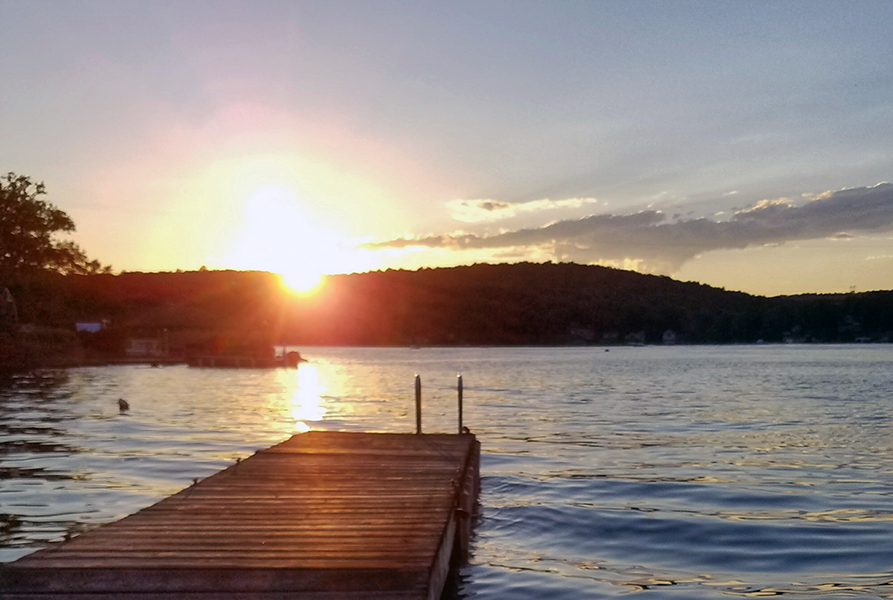 Lake Hopatcong sunrise - photo by Bob Kays