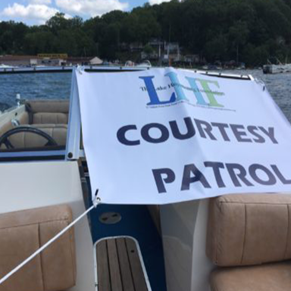 LHF Courtesy Patrol on the Boat